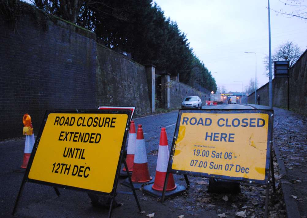 Springfield Road has repeatedly been closed for rail bridge repairs.