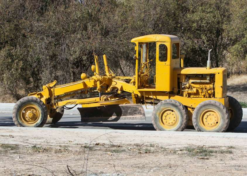 An Aveling Barford MG6 Motor Grader seen in Paphos, Cyprus, by Shane Marshall.