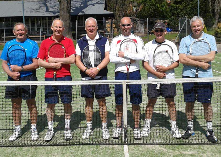 Grantham men's fourth team, from left - John Walker, David Todd, Daniel Dowty, Matt Street, Peter Elphick and Barry Priestley.