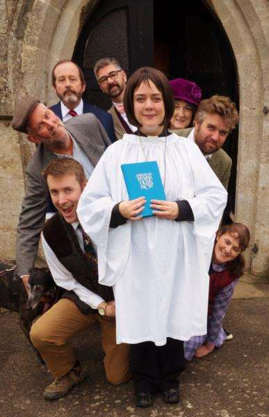 The cast of the Vicar of Dibley, to be performed by Grantham Dramatic Society at the Guildhall.