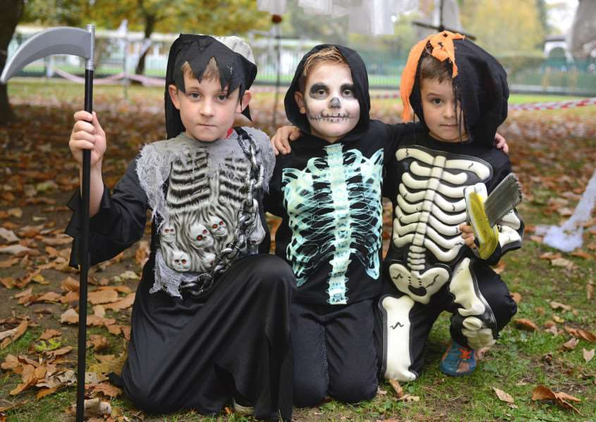 Halloween at Wyndham Park. Pictured are: Mason Storey, Sam Gorski and Jack Chappell
