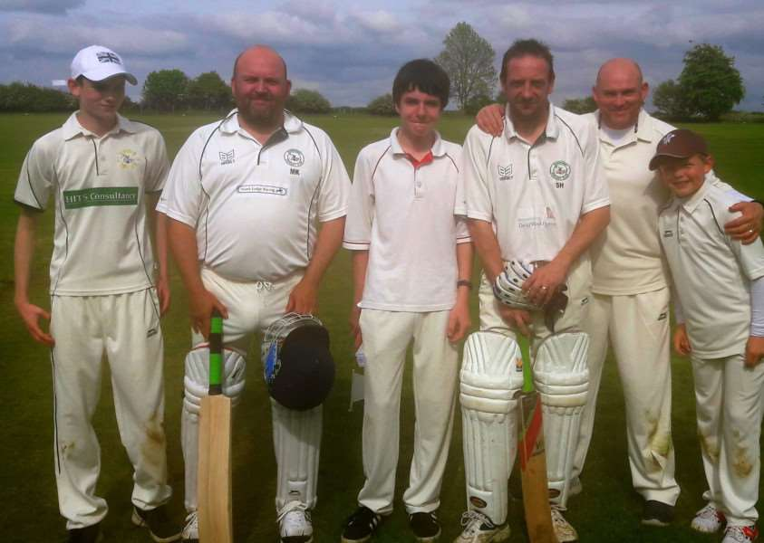 Barrowby CC's three fathers and sons.