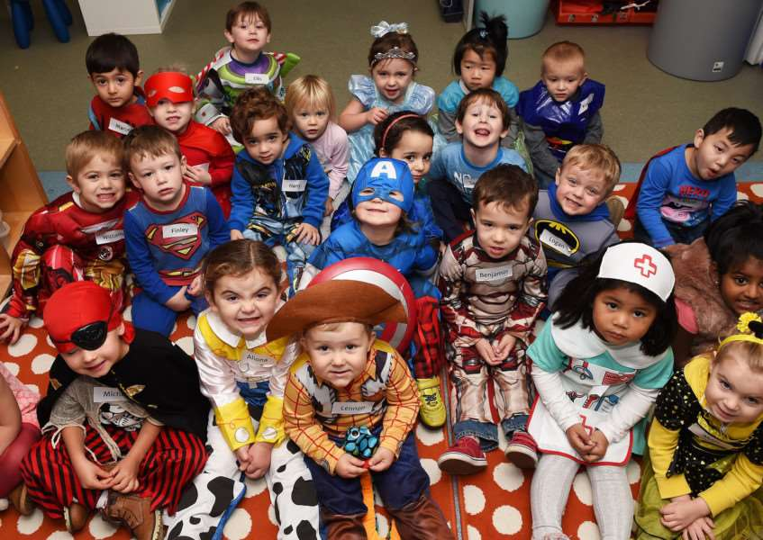 Plenty of characters at Wyndham Park Nursery for Children in Need. Photo: TRP-13-11-2015-629A (1}
