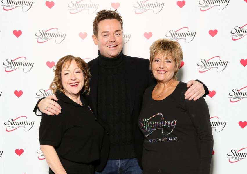 Joolie Cunningham and Tricia Lowther with Stephen Mulhern.