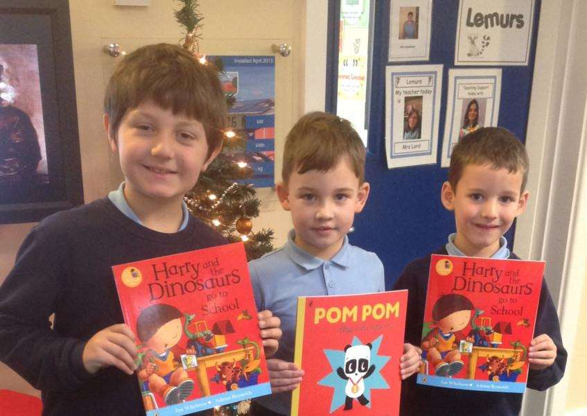 Every child at Huntingtower and Isaac Newton primary schools in Grantham will receive a free book to take home this Christmas from Penguin Random House UK