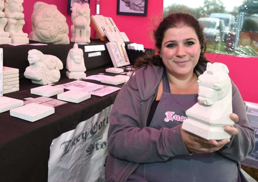 Harby Country Show: Pictured is Lucy Cortese, of Sculptore
