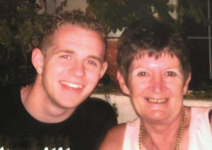 Adam Lilley with his mum, Jean Godber.
