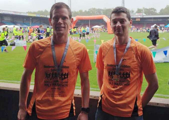 GRC half-marathon duo Andrew Pask and Iain Brown