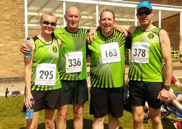 Pictured from left are Holly Durham, Paul Durham, Martin Carter and Chris Armstrong. z4QhmCP9HKFu0l0Uupqh