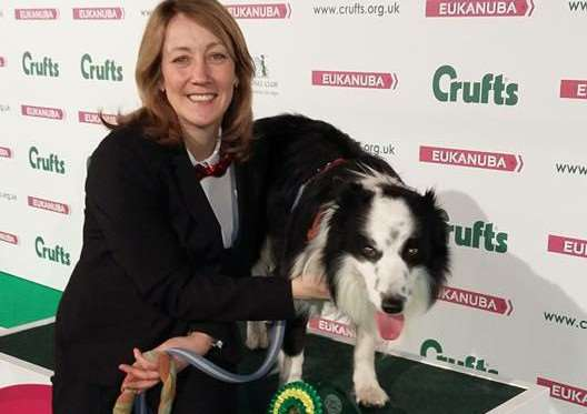 Caroline Johnson, from Bottesford, with her dog Sunny. They came third at Crufts in the Heelwork to Music competition.