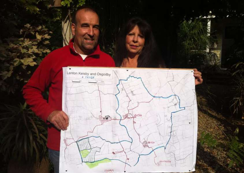 Roger Higginbotham and Jo Morris-Turner are ready for a fight against plans for a solar development.