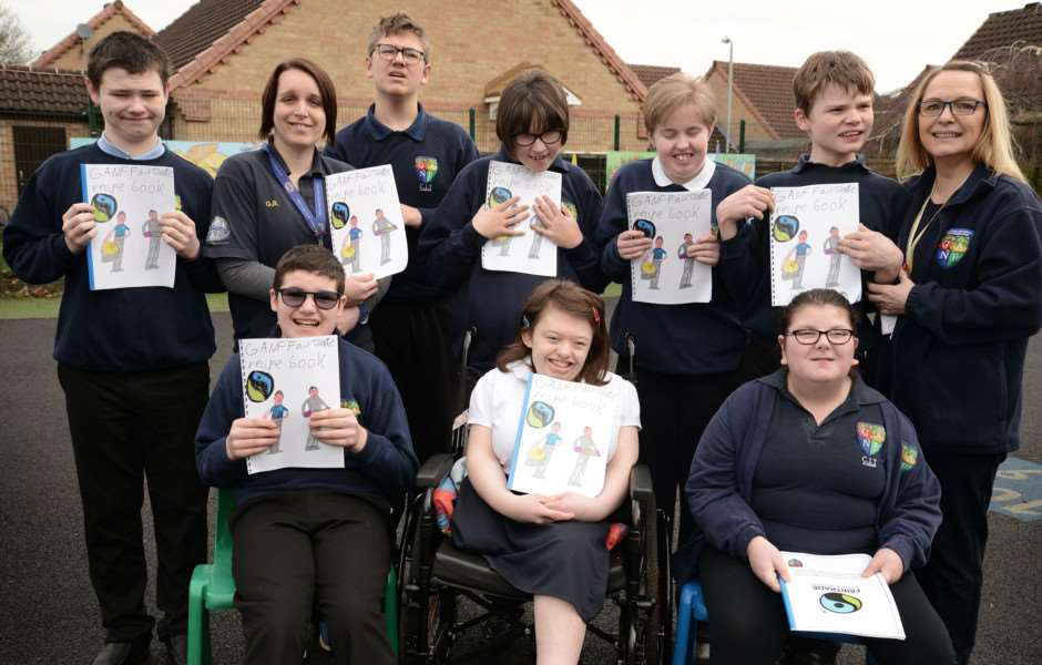 Pupils at Sandon School have created a Fairtrade recipe book.