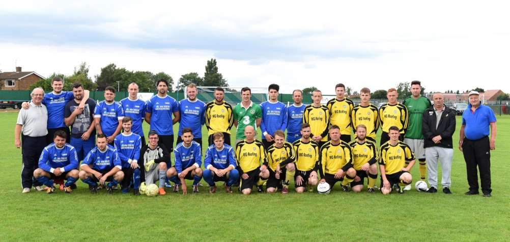 The team line up before the Danny Walsh memorial match. Photo: TRP-30-7-2016-923A (20)