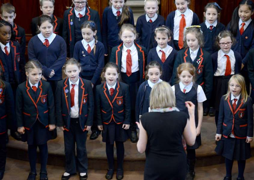 National School taking part in the Grantham Music Festival 2016.