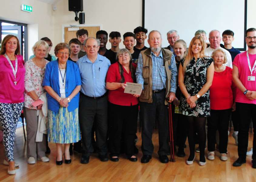 The Mayor of Grantham Mike Cook and Coun Jacky Smith joined the NCS group at their closing ceremony last week.