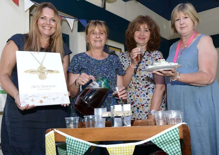 Celebrating a new line of jewellery on sale at Cussells are, from left - Katy Kelly, Jenni Cussell, Ann Kilroy and Sandra Roys.