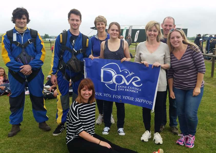 The skydivers who jumped for Dove 'PHOTO: Supplied