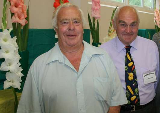 Harrowby Horticultural Show organisers George Harrison and Alan Skelton. Photo: Ian Selby EMN-140827-095741001