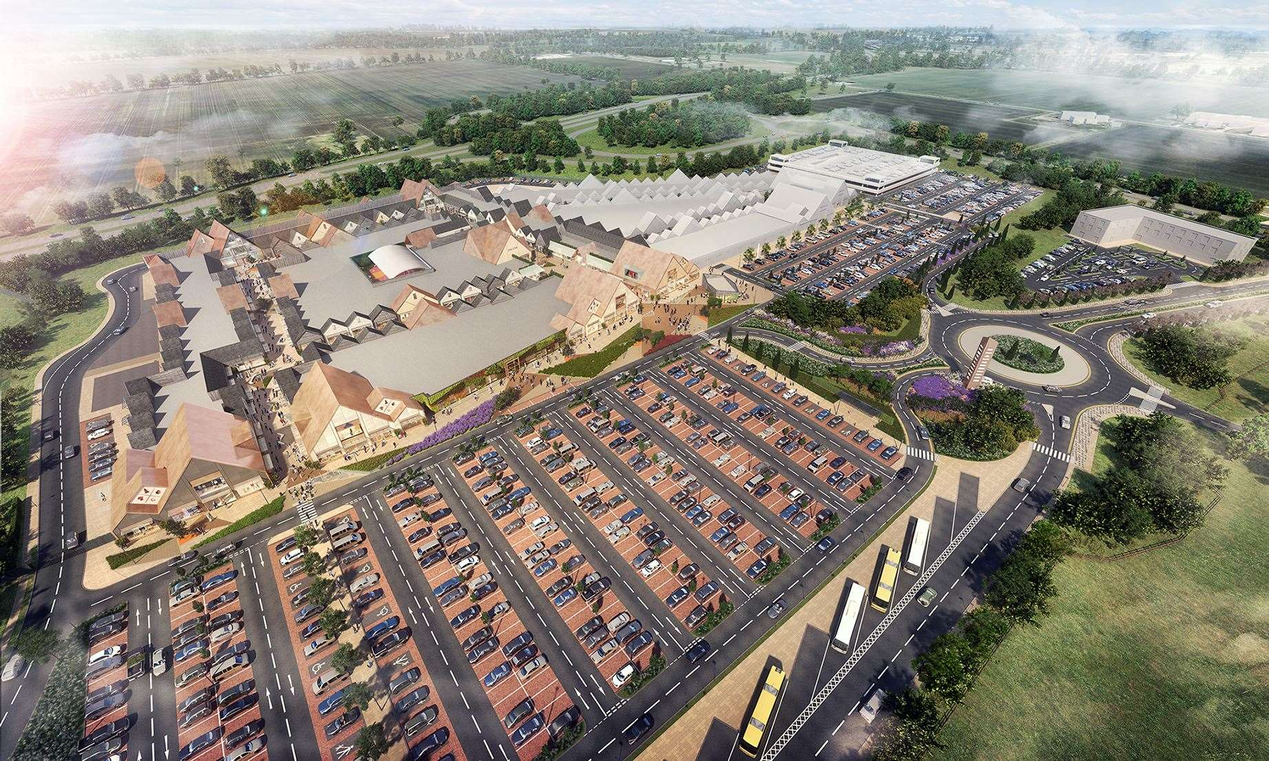 A visual of the £100 million Rioja designer outlet village to be built in Grantham. (20622689)