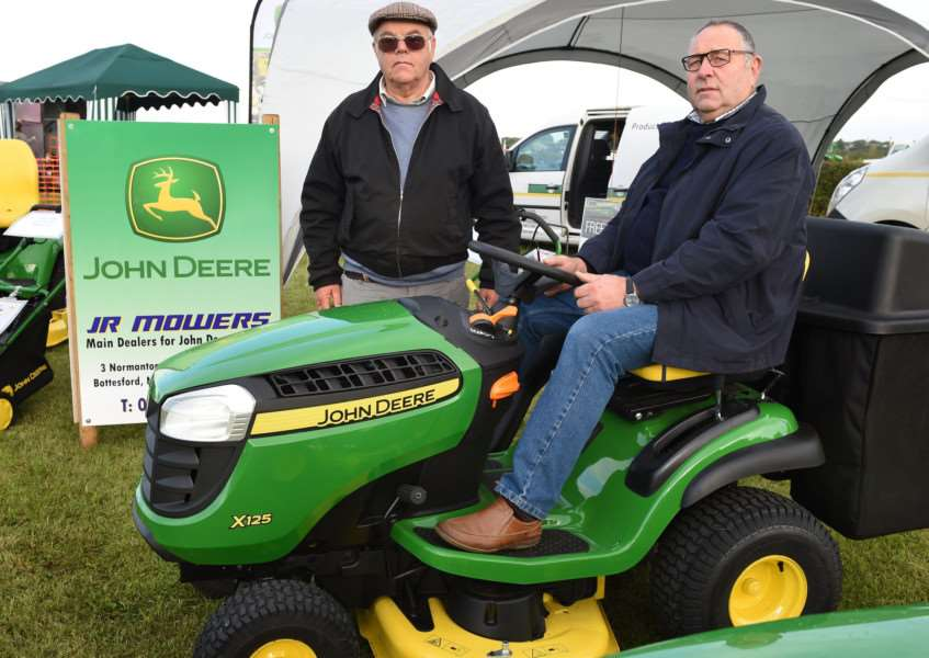 Harby Country Show: Pictured are Richard Loxton and Geoff Knight, of JF Mowers