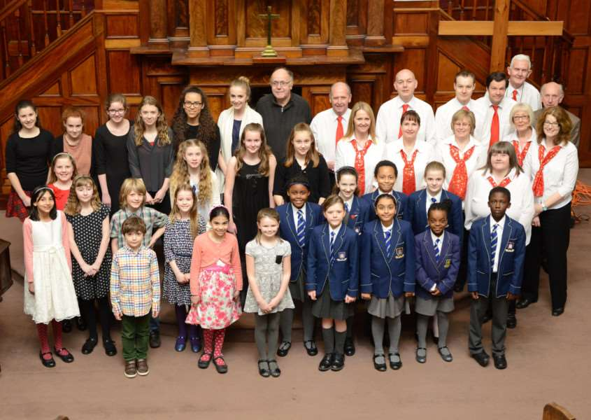 Trophy winners at the Grantham Music Festival prize-giving ceremony. Photo: Toby Roberts