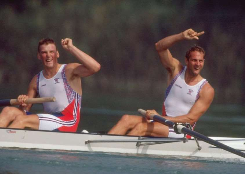 Olympic rowing champions Sir Steve Redgrave, right, and Sir Matthew Pinsent.
