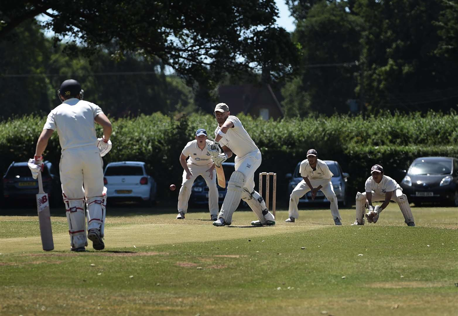Chas Hubbard racking up 35 runs for Belvoir on Saturday. Photo: Toby Roberts (2860665)
