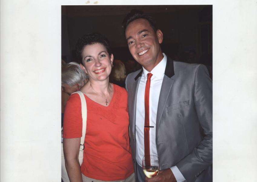 Karen Chevalier with Stricly Come Dancing judge Craig Revel Horwood. Photo: Photos 2U