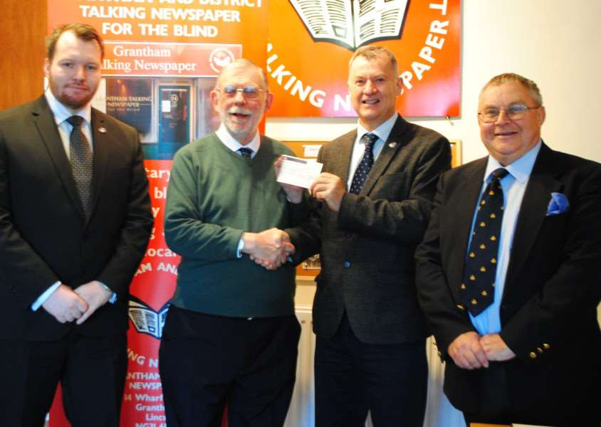 At the presentations are, from left - Liam Steadman, John Williams, Walter Cook and David Pickup.