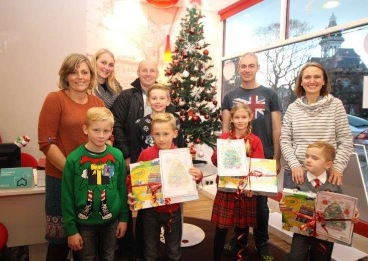 Winners of a Belvoir Grantham Christmas competition are Henry Midgley, 4, of Little Gonerby Infant School; Kai Lawson, 7, from Cliffedale Primary School; and Chloe Hunter from Cliffedale Primary School.
