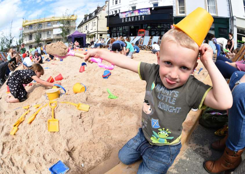 Beach at Market Place, Grantham. Pictured is Joshua Leyton