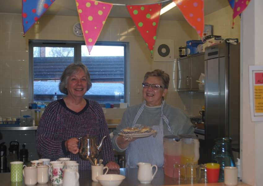 Volunteers Pat Hiley and Linda Dawson will help run the cafe