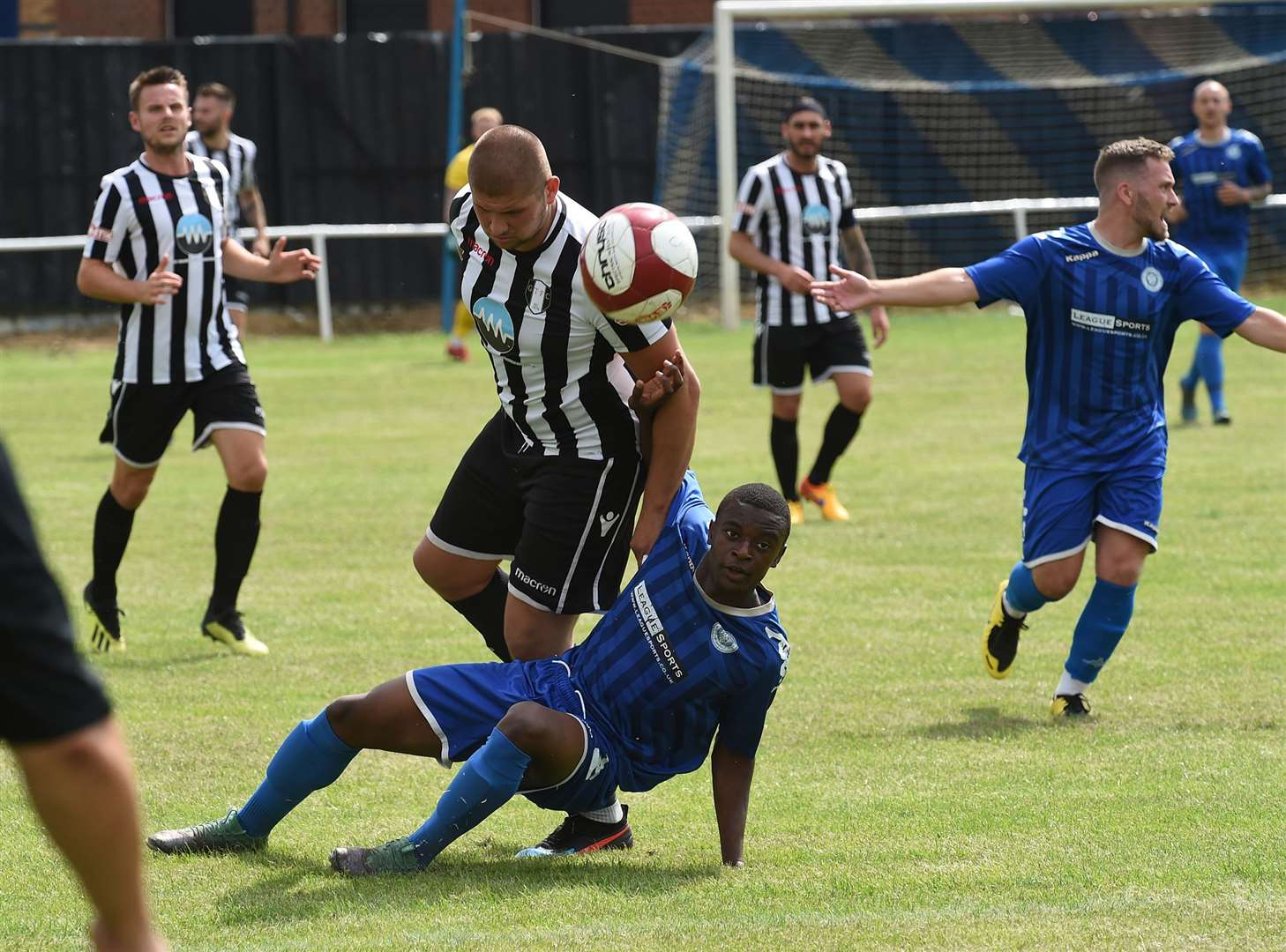 Action from Saturday's charity cup semi-final between Harrowby United and Grantham Town. Photo: Toby Roberts (13891612)