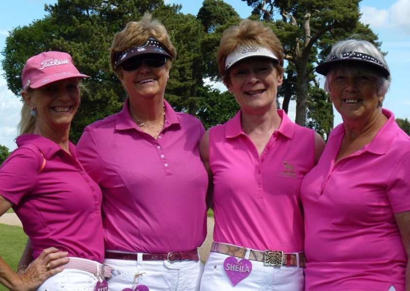Belton Park ladies' winners of the 'team with the most sparkle' are, from left - Jools Taylor, Lisa White, Sheila Mason and Kathy Hill.