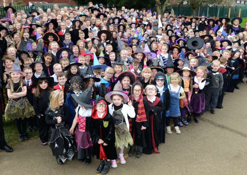 Isaac Newton Primary School marks World Book Day. Photo: TRP-2-3-2017-153B (2)