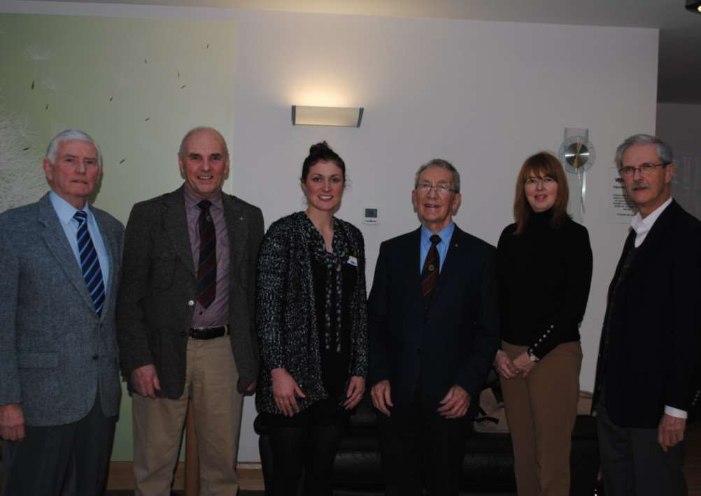 From left, Probus vice president David Evans, president Terry Copestake, Charlotte Jackson of Marie Curie, Probus almoner Terry Kirk, Tina Dingley of St Barnabas Hospice, and Samaritan John.