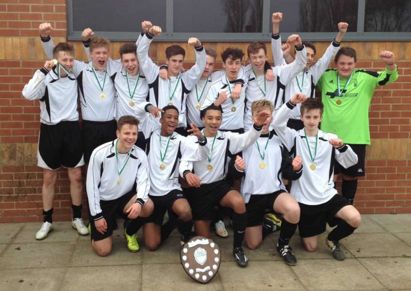 County football champions - Sir William Robertson Academy's Year 11 boys