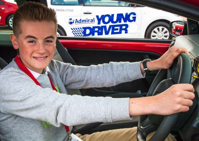 Robbie Robertshaw at the 2015 Young Driver Challenge final.