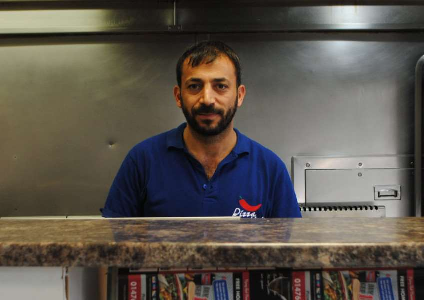 Mahmut Boztemir is struggling to run Pizza Hot