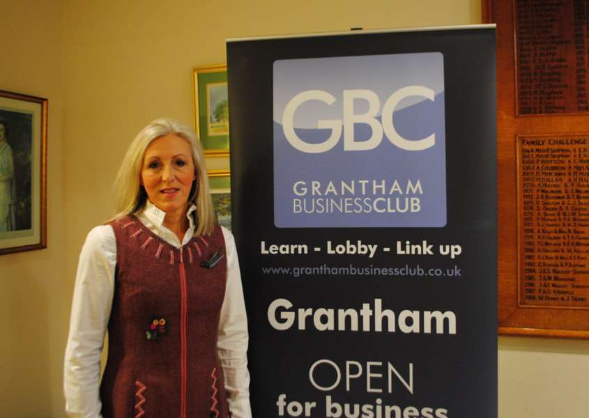 Sue Hodgson, the new chairman of Grantham Business Club.