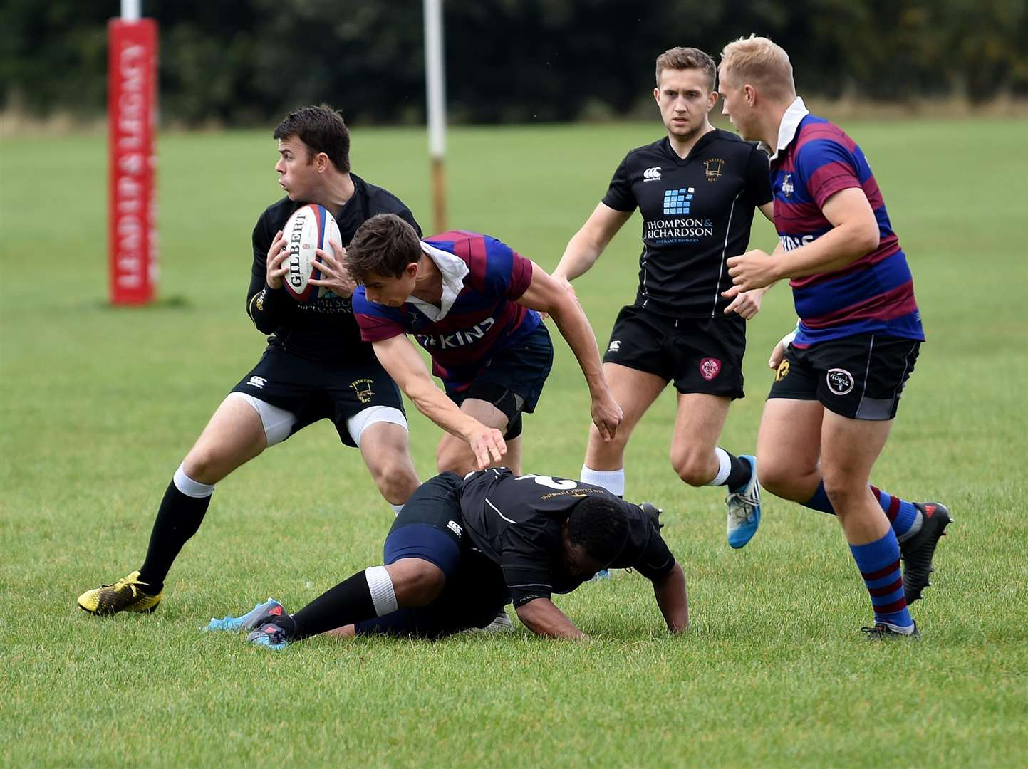 Action from Kesteven's win over Rolls Royce at Woodnook on Saturday. Photo: Toby Roberts (4233484)
