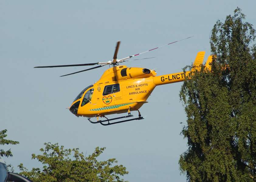 A Lincolnshire And Nottinghamshire Air Ambulance.