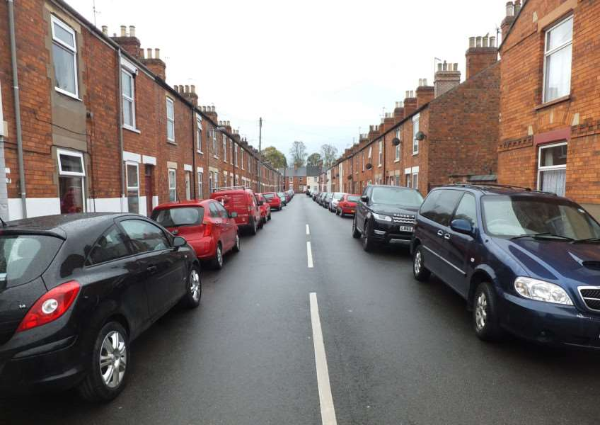 Residents parking problems in Grantham.