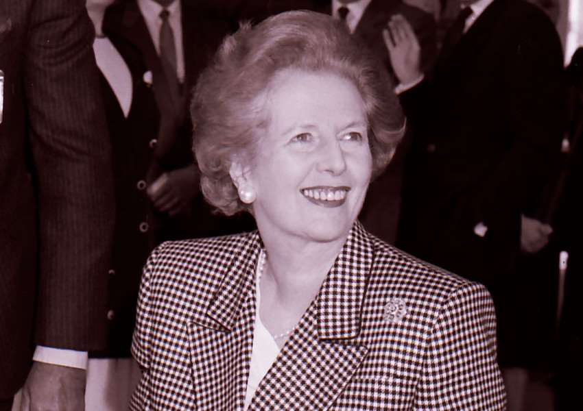 Margaret Thatcher sporting her classic look in 1989 TPL-140805-150840003