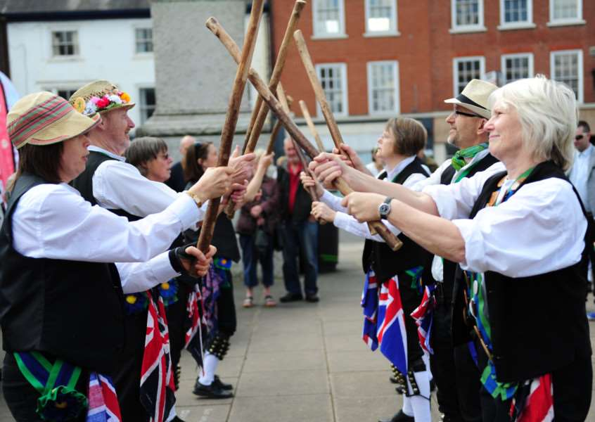 St George on the Green: Allington Morris Dancers