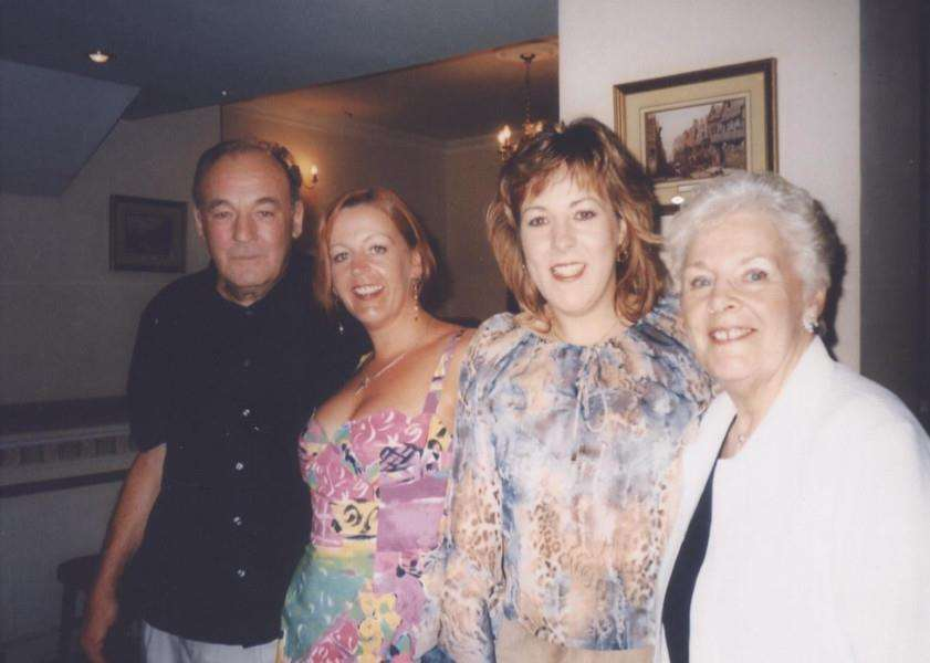 Noel with wife Christine and daughters Tracie Hollier and Debra Wrenn on their 40th wedding anniversary.