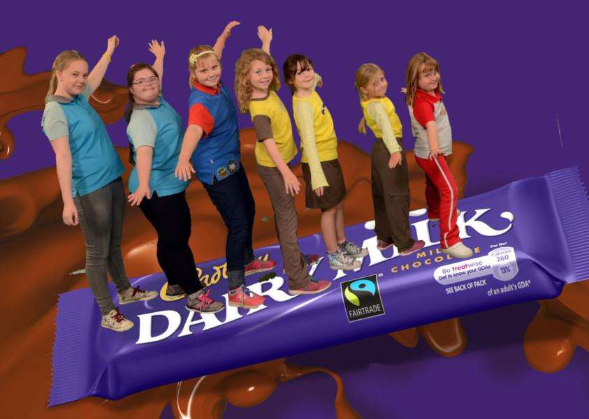 Girls enjoy a trip to Cadbury World.