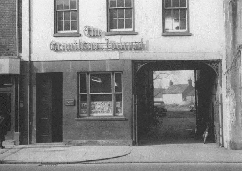 Grantham Journal on the High Street before Woolworth's moved in.