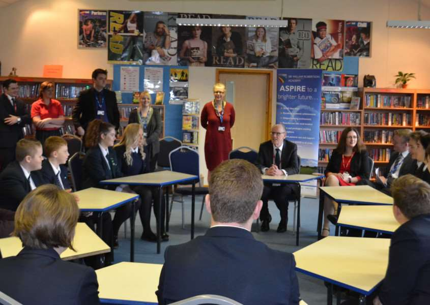 Minister of State for Schools Nick Gibb MP visits Sir William Robertson Academy