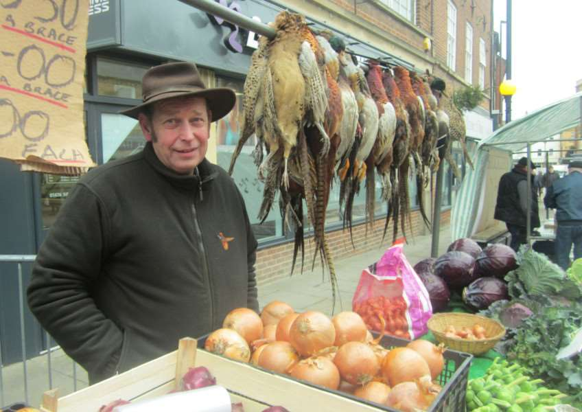 Robin Burrows at Grantham market